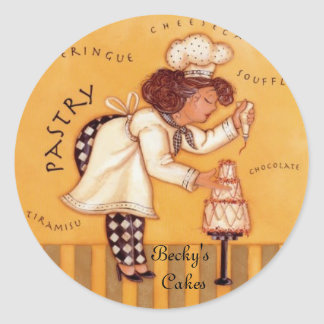 Becky's  Cakes Classic Round Sticker