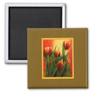 Becky's Tulips jGibney Signature Greenville SC The 2 Inch Square Magnet