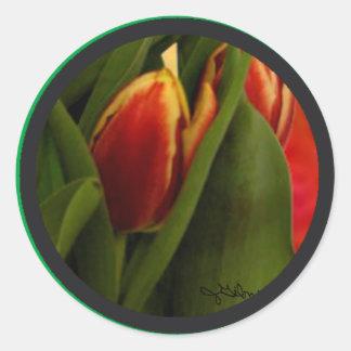 Becky's Tulips jGibney Signature Greenville SC The Classic Round Sticker