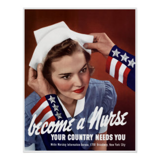 Become A Nurse -- Border Poster