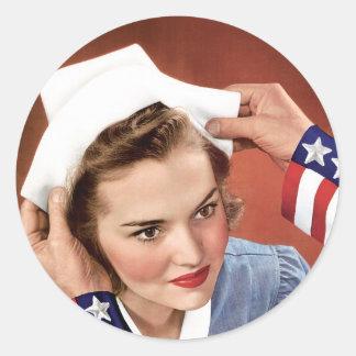 Become A Nurse Classic Round Sticker