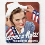Become A Nurse Mouse Pad