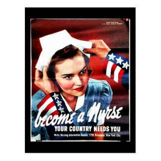 Become A Nurse Post Cards