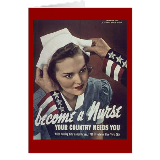 Become A Nurse Recuriting Poster Greeting Card