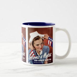 Become A Nurse Two-Tone Coffee Mug