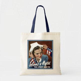 Become A Nurse ~ Vintage Nurse Tote Bag