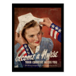 Become A Nurse Your Country Needs You Postcard
