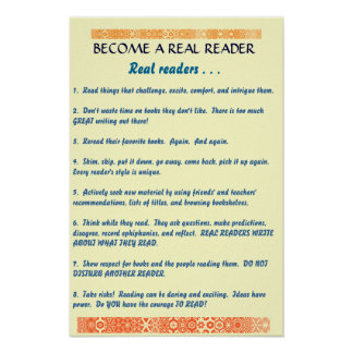 become a real reader print