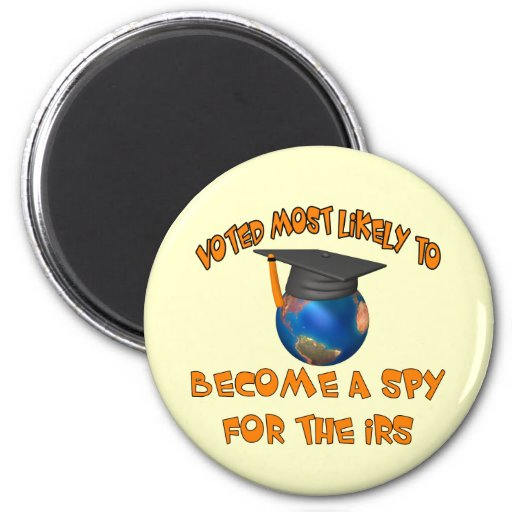 Become A Spy 2 Inch Round Magnet