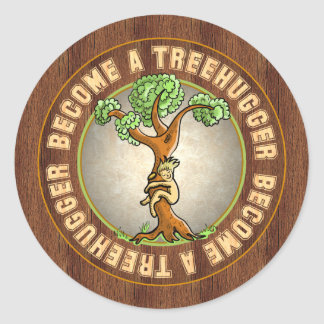 Become a Treehugger Classic Round Sticker