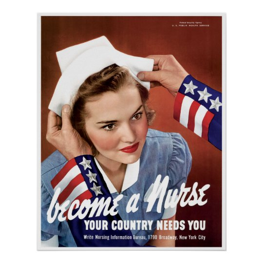 Become A WWII Nurse Poster