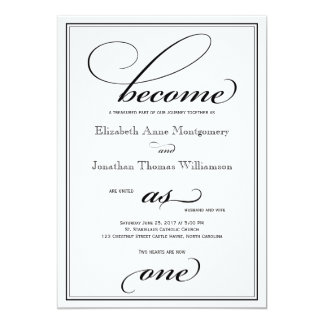 Become as One Christian Wedding Invitation