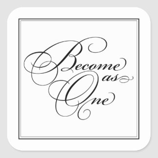 Become as One Christian Wedding Stickers