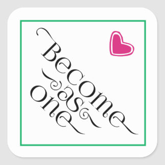 Become as One Teal and Pink Heart Sticker