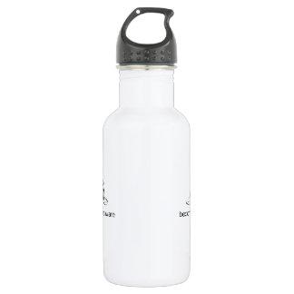 Become Aware - Black Regular style Water Bottle