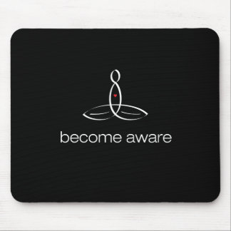 Become Aware - White Regular style Mouse Pad