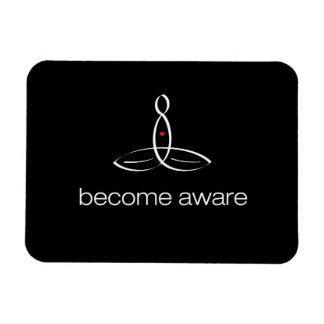 Become Aware - White Regular style Rectangular Photo Magnet