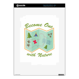 Become One With Nature iPad 2 Skins