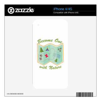 Become One With Nature iPhone 4 Decal