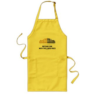 Become One With The Chess Piece (Reflective Chess) Aprons