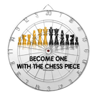 Become One With The Chess Piece (Reflective Chess) Dartboard With Darts