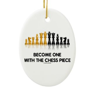 Become One With The Chess Piece (Reflective Chess) Christmas Tree Ornaments