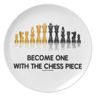 Become One With The Chess Piece (Reflective Chess) Party Plates