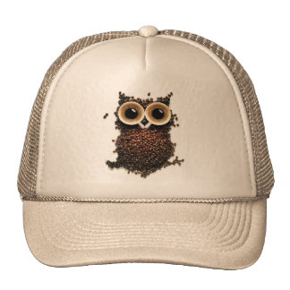 Become Owl With Extra Strong Coffee Hat Cap