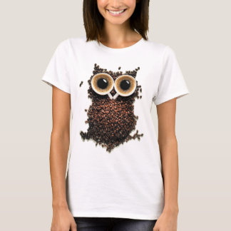 Become Owl With Extra Strong Coffee T-Shirt