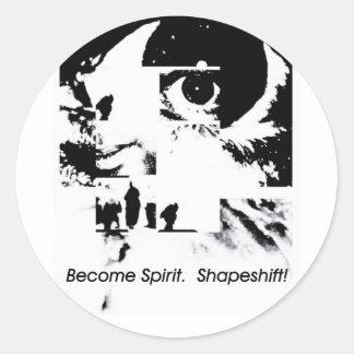 Become Spirit Classic Round Sticker
