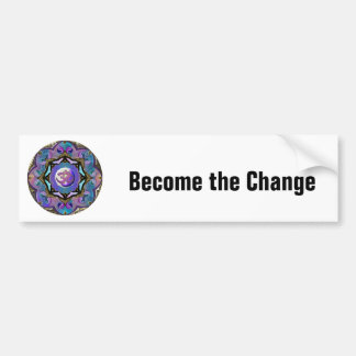 Become the Change ~ Moon Mandala Bumper Sticker