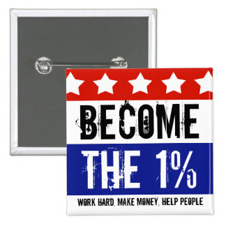Become the One Percent, Anti-Occupy Wall Street 2 Inch Square Button