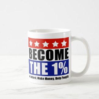 Become the One Percent, Anti-Occupy Wall Street Coffee Mug