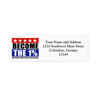 Become the One Percent, Anti-Occupy Wall Street Return Address Label