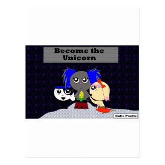 Become the Unicorn Postcard