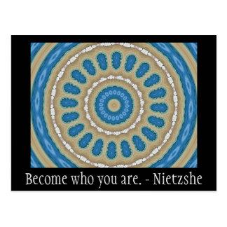 Become who you are. - Nietzshe Postcard