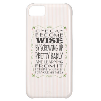 Become Wise from Your Mistakes iPhone 5C Cases
