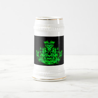 Becomes green flame monster at the starlit sky beer stein