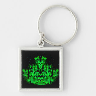 Becomes green flame monster at the starlit sky keychain
