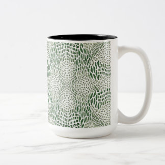 becomes green queue skin Two-Tone coffee mug
