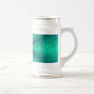 Becomes green rainbow in elephant Skin leather opt Beer Stein