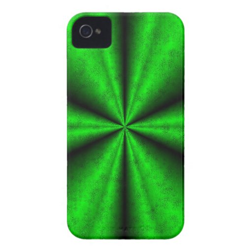 Becomes green rainbow in elephant Skin leather opt iPhone 4 Cover