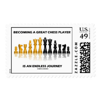 Becoming A Great Chess Player Is Endless Journey Stamps