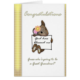 Becoming a Great Grandmother Card