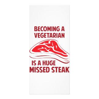 Becoming A Vegetarian Is A Huge Missed Steak Rack Card