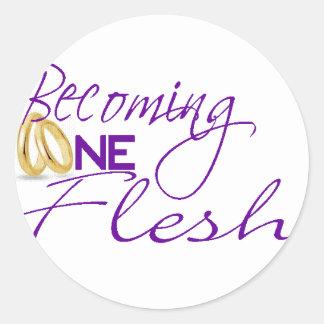Becoming One Flesh Classic Round Sticker