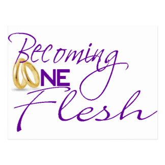 Becoming One Flesh Postcard
