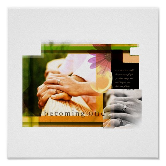 Becoming One (Mark 10:8) Poster