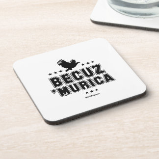 Becuz 'Murica - eagle flight Beverage Coasters