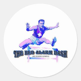 Bed Alarm Dash Vintage Nursing   Classic Round Sticker